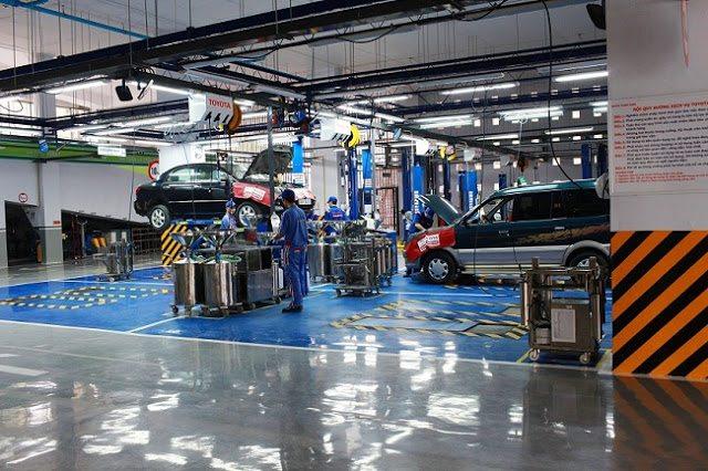 Xưởng sửa chữa xe đạt tiêu chuẩn với nhiều trang thiết bị hiện đại